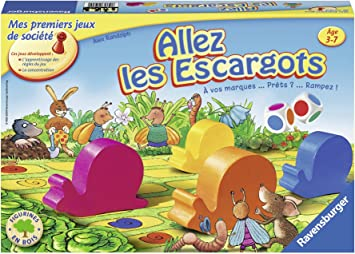 Ravensburger Allez Les Escargots Premier Jeu De Societe Pour Enfants Jeu En Bois Des 3 Ans 20617 Amazon Fr Jeux Et Jouets