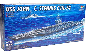 Trumpeter 1/700 Scale USS John C. Stennis CVN-74 Nimitz Class American Aircraft Carrier Plastic Model Kit # 05733