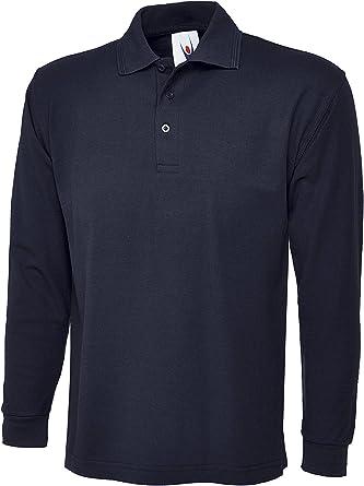 Camiseta polo de manga larga para hombre. Ideal para deportes, trabajo y ocio