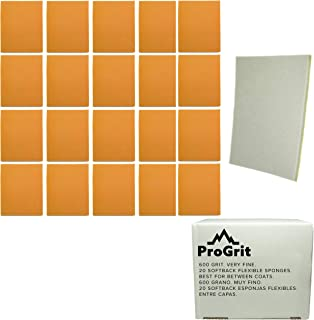 20 Pack ProGrit Sanding Sponges 600 Grit Superfine Between Coats Hand Sander Pads Flexible Softback Wet Dry
