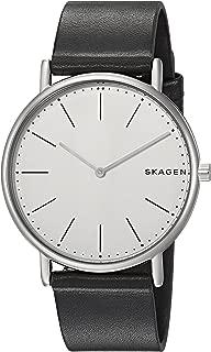 Skagen Signature Black Titanium & Leather Watch SKW6419