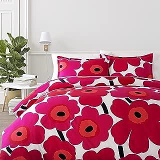 Marimekko 221453 Unikko Comforter Set Red, King