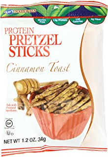Kay's Naturals Protein Pretzel Sticks, Cinnamon Toast, Gluten-Free, Low Fat, Diabetes Friendly, All Natural Flavorings, 1.2 Ounce (Pack of 6)