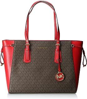 حقيبة توتس ام اف تي زد متوسطة للنساء من مايكل كورس، لون بني/احمر فاتح - 30F8GV6T8B