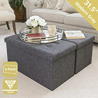 Amazon Com Vinyl Ottomans Accent Furniture Home Kitchen