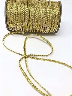 Flat Braid Gold Metallic Trim, Furniture Trim, Lace Trim, Accessories Trim for Accessories, Clothing, DIY, Crafts Supplies, Bags, Decorating, and More!