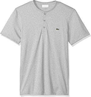Lacoste Men's Short Sleeve Henley Jersey Pima T-Shirt,...