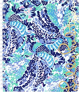Lilly Pulitzer Large Hardcover Spiral Notebook with 160 College Ruled Pages, Wave After Wave