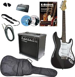 Set de guitarra de S de Clifton Black, Maple Neck