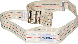 Physical Therapy Gait Belt with Metal Buckle (Beige Large),72