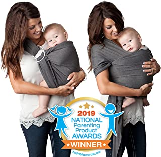 Sponsored Ad - 4 in 1 Baby Carrier Wrap and Baby Sling Carrier, Charcoal Gray Cotton,Ring Sling