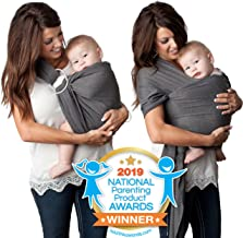 4 in 1 Baby Carrier Wrap and Baby Sling Carrier, Charcoal Gray Cotton,Ring Sling