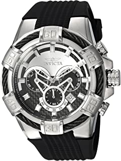 Invicta Men's Bolt Stainless Steel Quartz Watch with Silicone Strap, Black, 32 (Model: 24691)