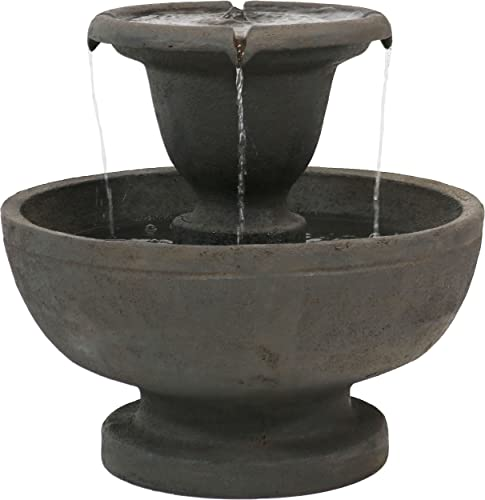 lowest Sunnydaze popular Streaming Falls Outdoor popular Water Fountain - 2-Tier Waterfall Fountain & Backyard Water Feature - 25 Inch Tall outlet sale