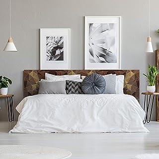 Megadecor decorativa Onde geometriche ondulate su sfondo monocolore. 10 mm Testiera per letto in PVC