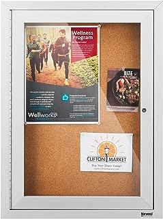 Norwood Commercial Furniture NOR-ATA-1000-SO Outdoor/Indoor Enclosed Cork, Bulletin Board with One Door, 18