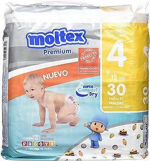 ce6361bb1d01 Moltex Premium Bolsa de Pañales, Talla 4, 9/15 kg - 30 Pañales