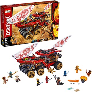 LEGO NINJAGO Land Bounty 70677 Toy Truck Building Set with Ninja Minifigures, Popular Action Toy with Two Toy Vehicles and...