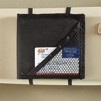 Vintage Black Sunvisor Registration Holder with Clear Window