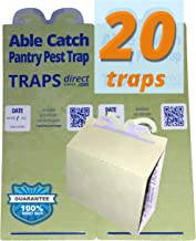 Able Catch 20 Pantry Moth Traps - Pheromone Lure, USA Made, Safe, Natural, Effective