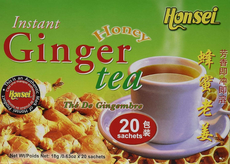 Honsei Instant Ginger Honey Tea of Count half Pack 40 gift 10