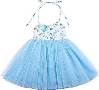 Flofallzique Baby Girls Tutu Dress Summer Wedding Birthday Princess Toddler Dress