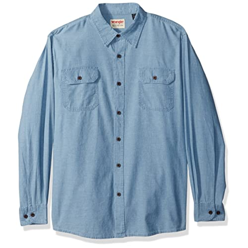 befce2da071 Wrangler Authentics Men's Long-Sleeve Classic Woven Shirt