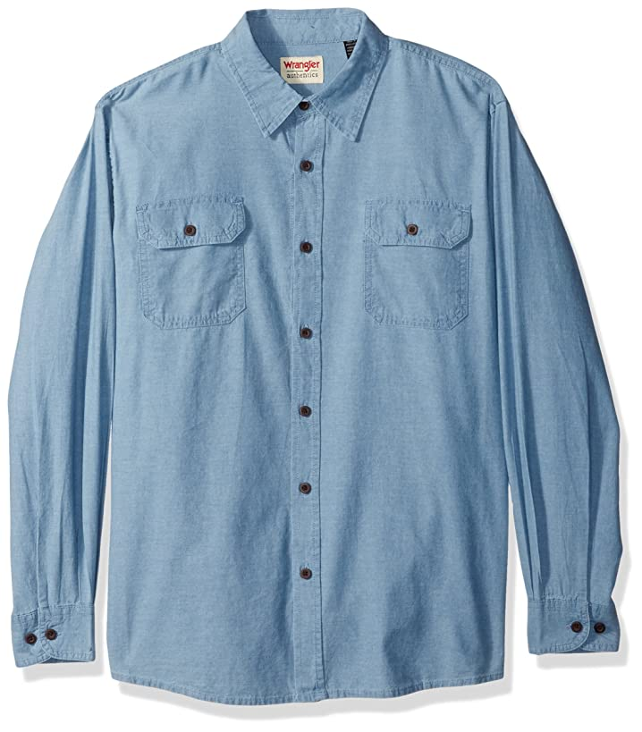 Wrangler Authentics Men's Authentics Long Sleeve Classic Woven Shirt
