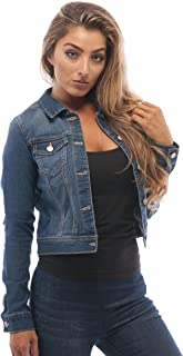 c46c69687d0f2 Hollywood Star Fashion Womens Basic Button Down Denim Jean Jacket