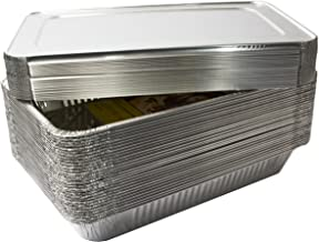 eHomeA2Z (30 Pack) Heavy Duty Full Size Disposable Aluminum Foil Steam Table Pans With Foil Lids for Cooking, Roasting, Broiling, Baking - 21 x 13 x 3 (30, Full-Size w/ Lids)