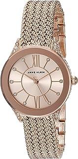 Anne Klein Women's Swarovski Crystal Accented Tone Mesh Bracelet Watch