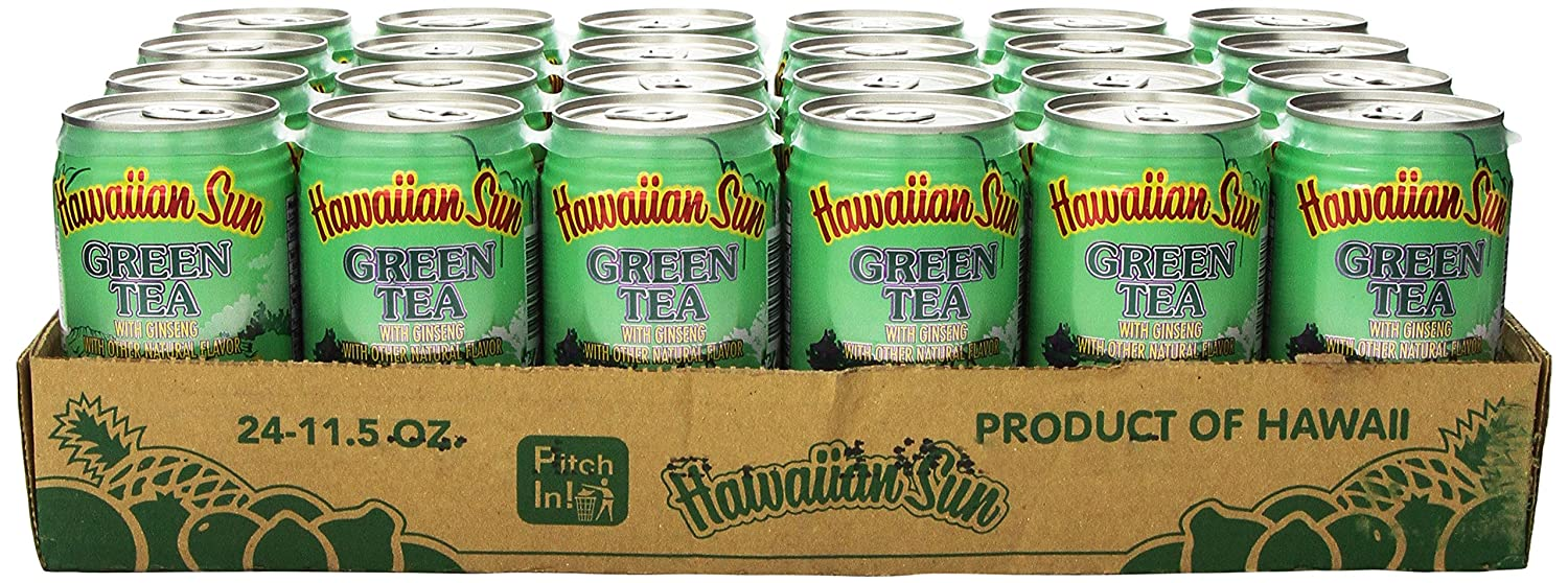 Hawaiian Sun Green Tea with New product type Pack Ginseng of 11.5-Ounce Long-awaited 24