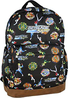Beyblade Burst Spinner Top Allover Characters Anime Pattern School Book Bag Backpack