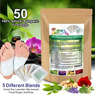 50 Premium 2-in-1 Foot Pads   Concentrated Formula   for Foot Care, Pain Relief, Relaxation, General Well-Being   5 Special Blends   by Shaman's Brew