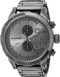 Men's Double Down Chrono 2.0 Chronograph Gunmetal Stainless Steel Watch DZ4314