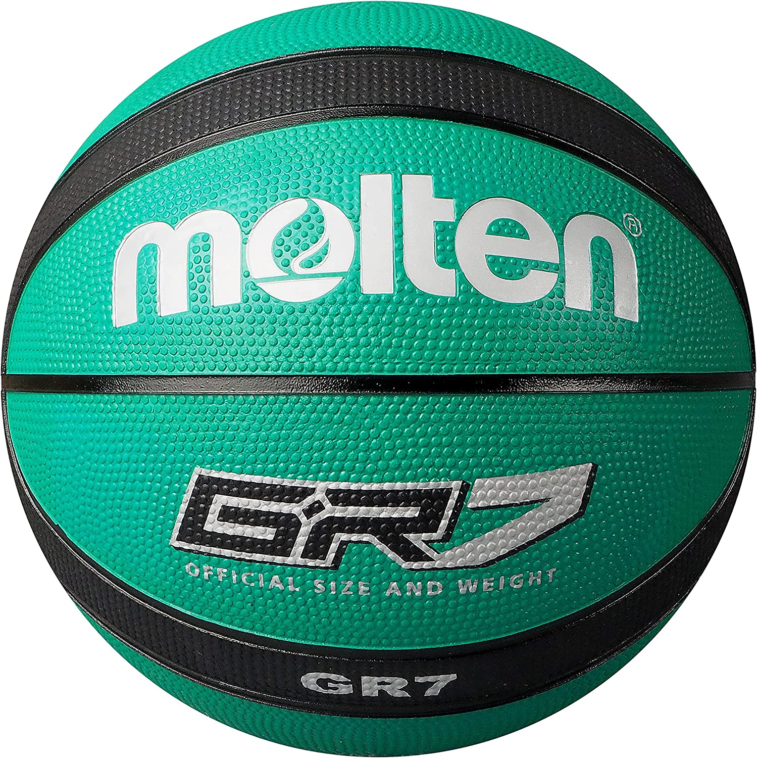 Midwest League Outdoor Recreational Rubber Basketball Ball Black//Red