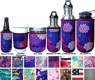 Koverz Insulators - 6 Sizes & 40+ Styles - Beer Can/Bottle   Coffee/Beer Pint Sleeve   16oz. Mason Jar   16-18oz (500ml)  24-30oz (750ml)  32-40oz (1000ml)  Insulated Neoprene Water Bottle Sleeve