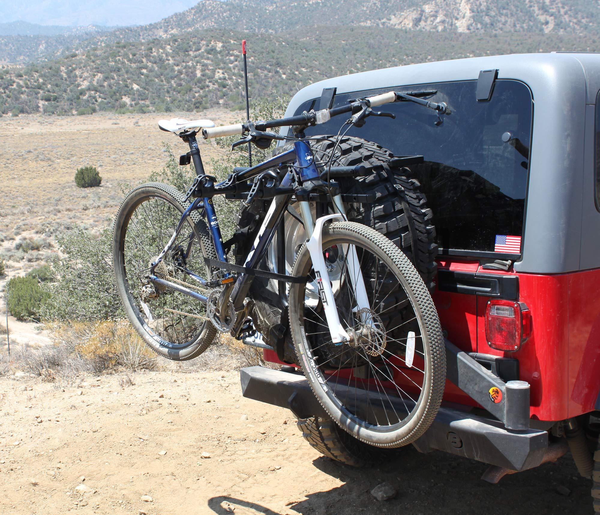 Hollywood Racks SR1 Spare Tire Rack 2 Bike Spare Tire Mount Rack rrba s