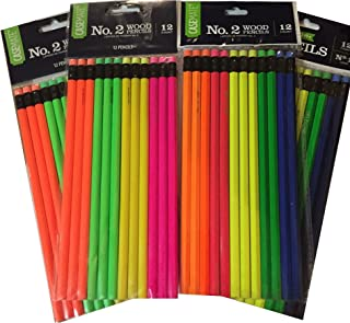 Neon Pencils 4 Packs of 12 Count