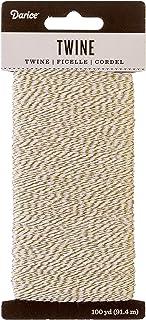 Darice 30030708 Baker's Gold & White, 100 Yards Twine, Gold/White