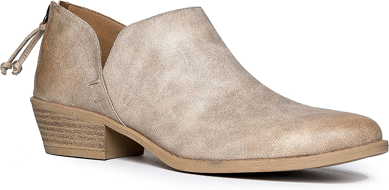 J. Adams Levi New Orleans Mall Booties for Women service Heel - Low Ankle Womens