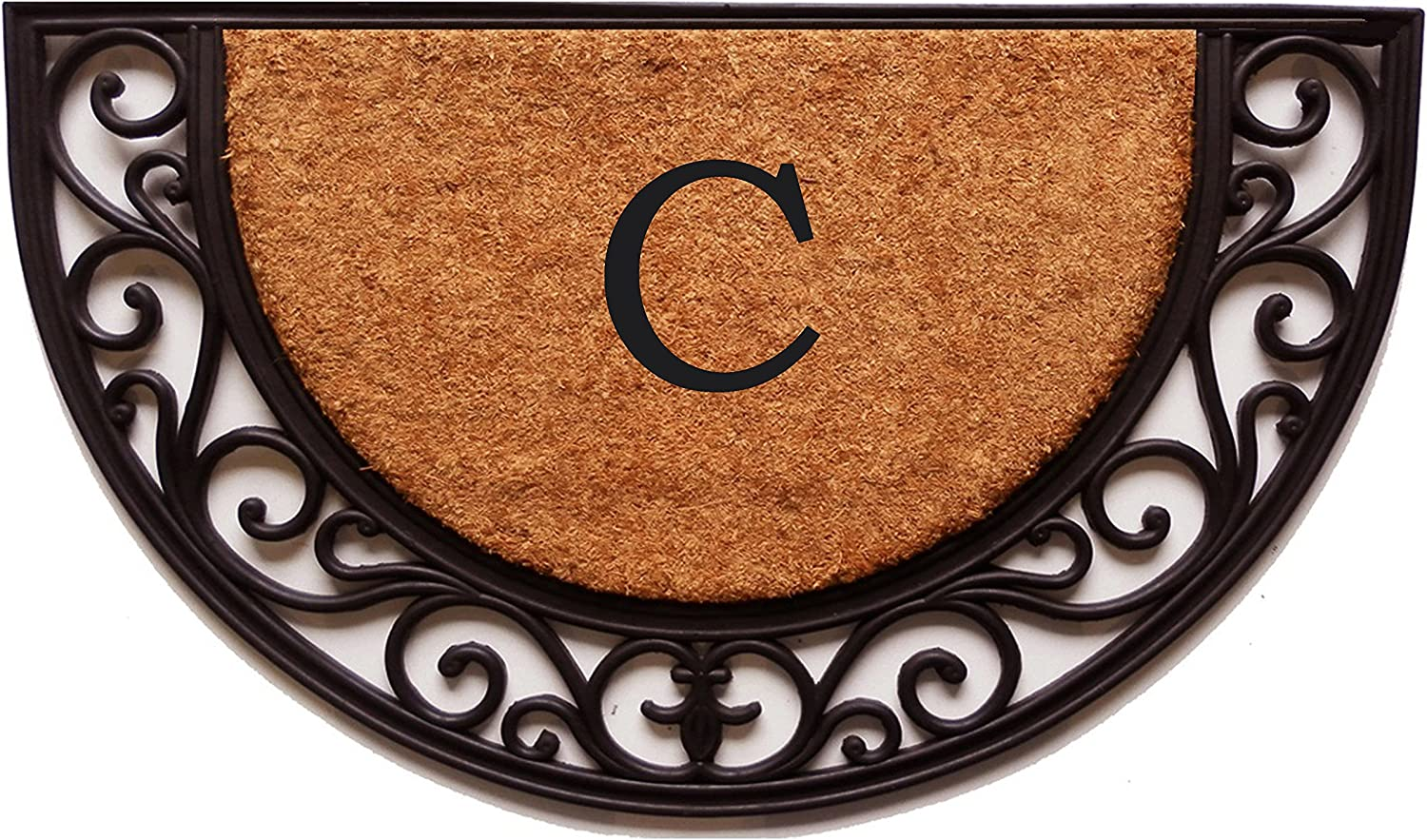 Home & More 100141830C Plantation Arch Monogram Doormat 18  X 30  (Letter C)