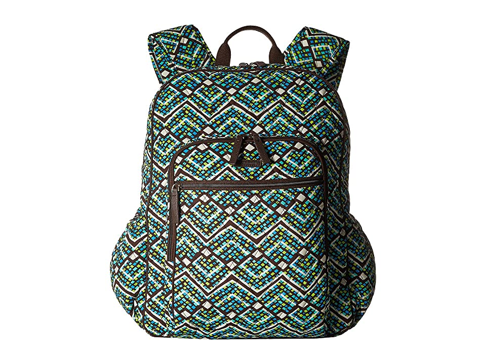 Vera Bradley Campus Tech Backpack (Rain Forest) Backpack Bags