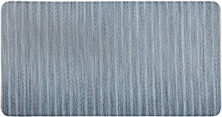 """J&V TEXTILES 20"""" x 39"""" Oversized Cushioned Embossed Gentle Step Anti-Fatigue Kitchen Mat (Woven 04 Blue)"""