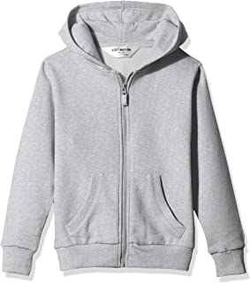Kid Nation Kids' Soft Brushed Fleece Zip-Up Hooded Sweatshirt Hoodie for Boys or Girls