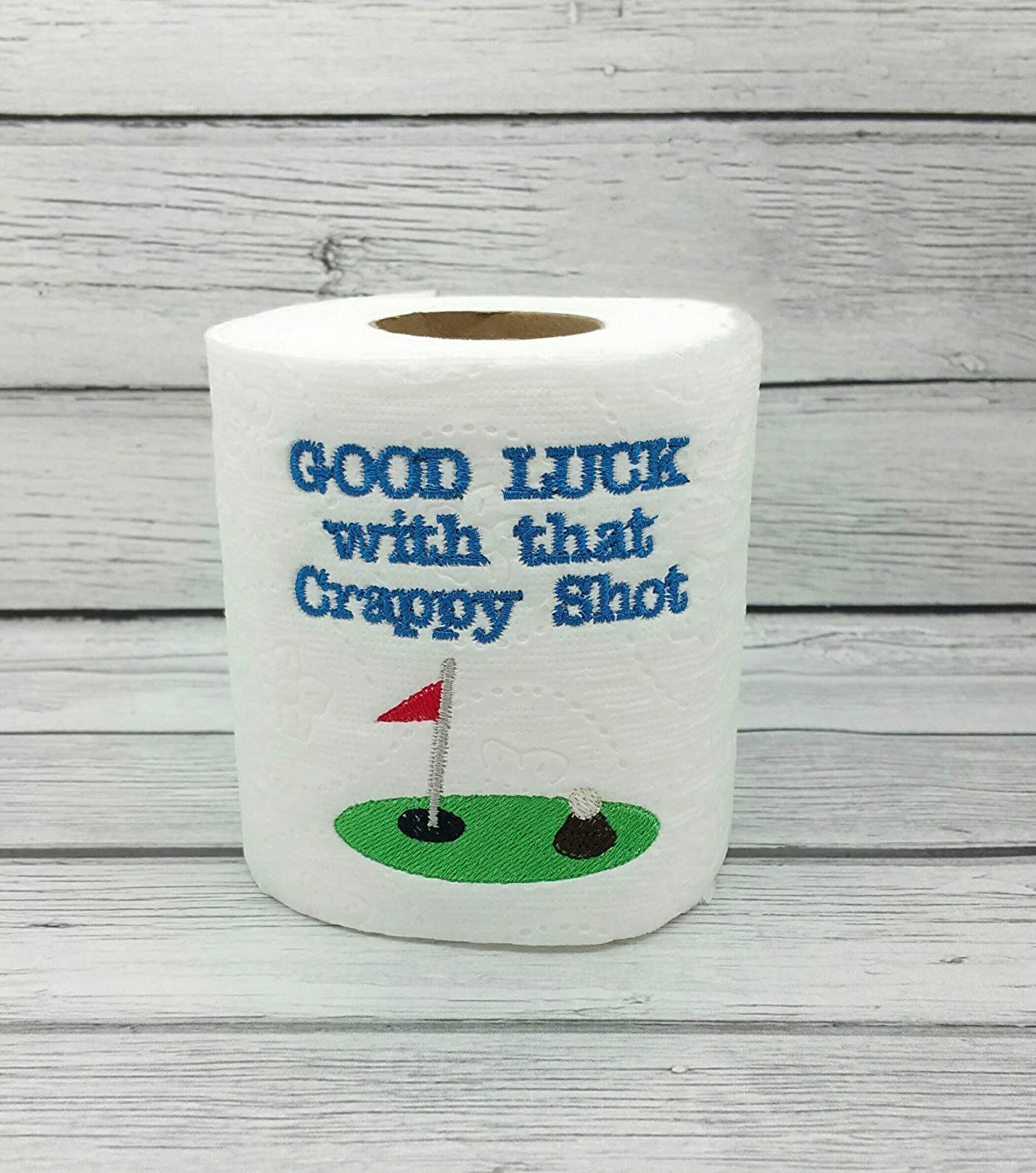 Golf Lovers Novelty Embroidered Toilet Paper, Funny Joke Prank Gag Gift