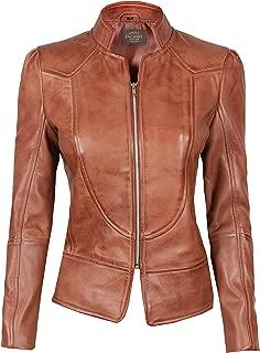 Brown Leather Jacket Women - Real Lambskin Black Womens Leather Jacket