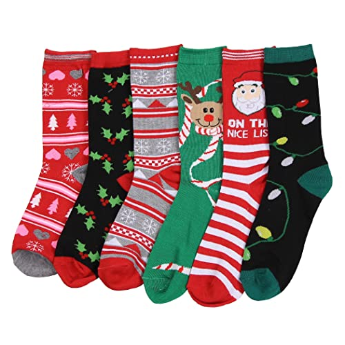 4fb9d9db461b7 Women's Fun Colorful Crew Sock 6 Packs