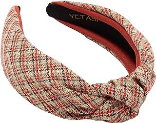 سر موی سر زنانه لوازم جانبی مو برای مواقع. گروه Comfy Plaid Head به خوبی ساخته شده است. هدبند قرمز گره دار طراح یک سربند قرمز درجه یک است. سربند زنانه ناز سربند زنانه پهن قرمز