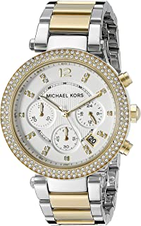 Michael Kors Women's 39mm Two-Tone Gold and Silver Parker...